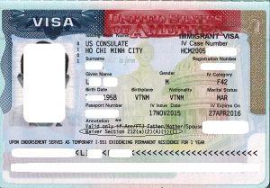 Visa của anh L.