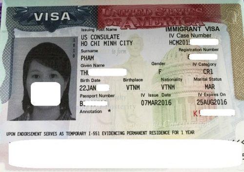 Visa của Th