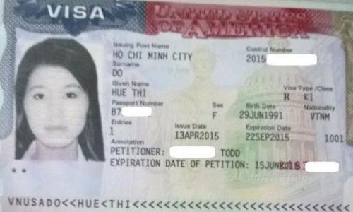 Visa của chị Huệ