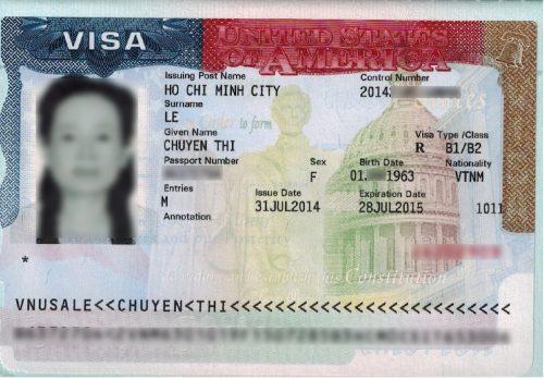 Visa của chị Chuyên