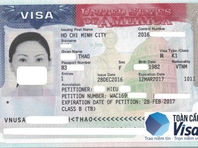 Visa của chị Thảo