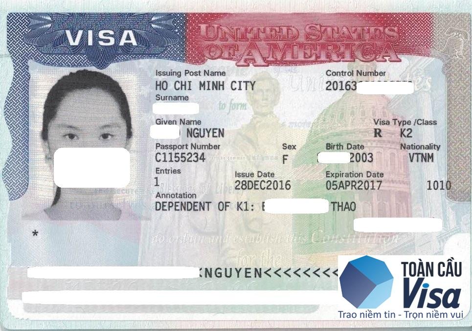 Visa con của chị Thảo