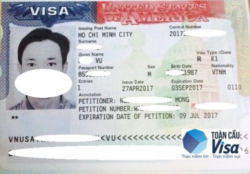 Visa của anh Vũ