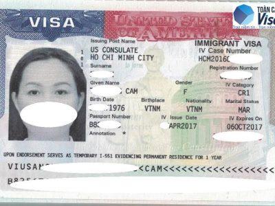 Visa chị Cầm