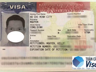 Visa của anh Định