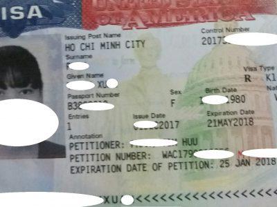 Visa của chị X