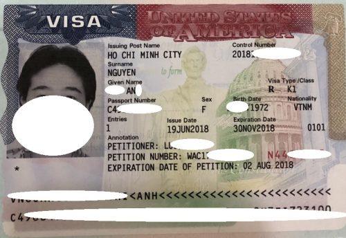 Visa của chị An