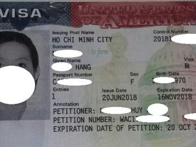 Visa của chị Hằng