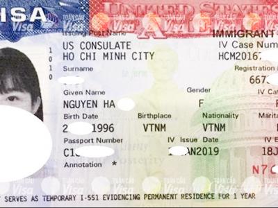 Visa của chị Hà