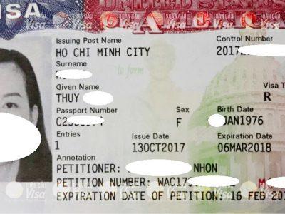 Visa của chị Thuy